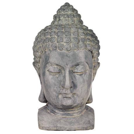 Buddha Head Cast Resin Outdoor Statue
