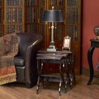 Georgia Collection Chocolate Finish Nesting Tables