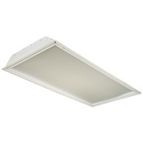 "White Finish 48"" Wide Ceiling Light Fixture"