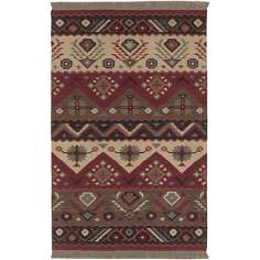 Surya Jewel Tone JT-8 Red Area Rug