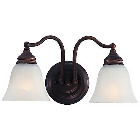 Feiss Bronze 15 Wide 2 Light Bath Fixture 60187