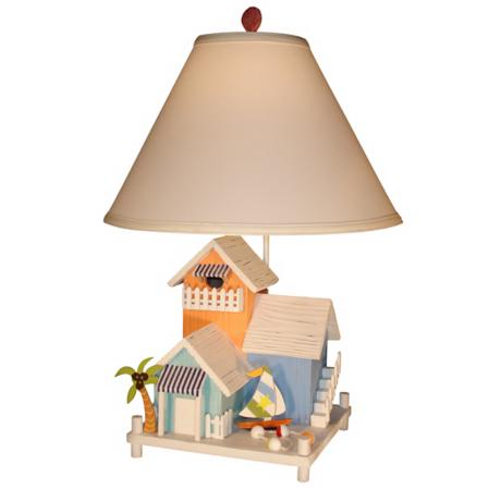 Three Beach House Table Lamp
