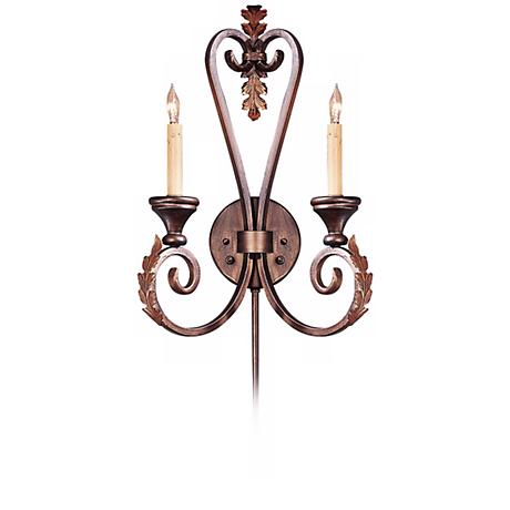"Currey and Company Orleans 20"" High Plug-In Wall Sconce"