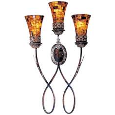 "Metropolitan Salamanca 34 1/4"" High 3-Light Wall Sconce"