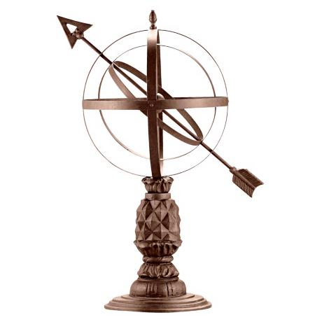 Williamsburg Pineapple Armillary Sphere Garden Statuary