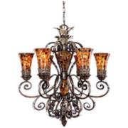 Metropolitan Salamanca Pen Shell Mosaic 7-Light Chandelier