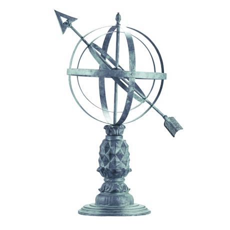 Williamsburg Verdigris Armillary Sphere Garden Statuary