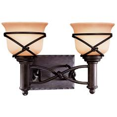 "Minka Knotted Iron 16"" Wide Two Light Wall Sconce"