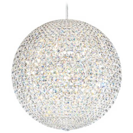 Large crystal pendant disco ball light