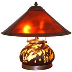 Americana Dragonfly Mica Shade Night Light Table Lamp