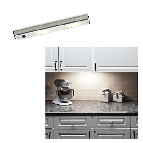 "Halogen 14 3/4"" Wide Brushed Steel Under Cabinet Light"