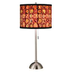 Vibrating Colors Giclee Style Art Shade Table Lamp