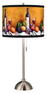 Wine And Fruit Giclee Style Art Shade Table Lamp (60757-00190)