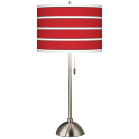 Giclee Bold Red Stripe Table Lamp