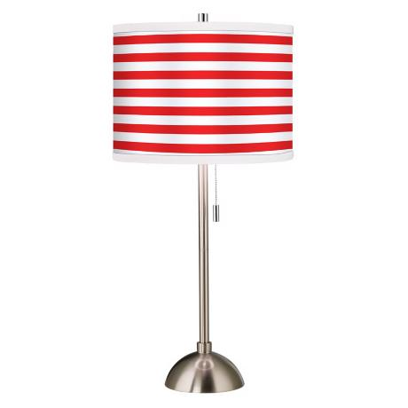 Giclee Red Horizontal Stripe Table Lamp