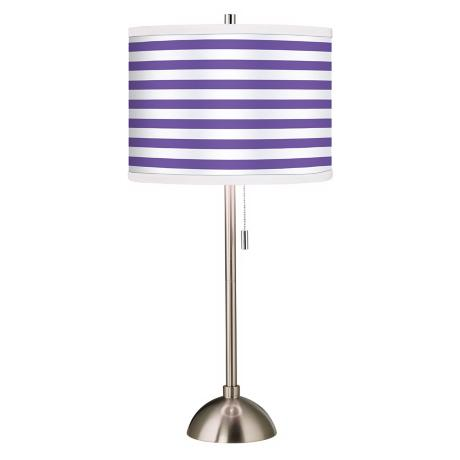 Giclee Purple Horizontal Stripe Table Lamp