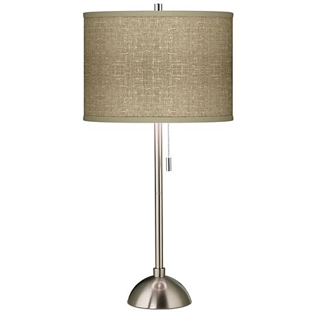 Burlap Print Giclee Contemporary Table Lamp