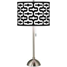 Reflection Giclee Brushed Steel Table Lamp