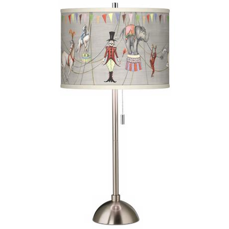 Circus Time Giclee Contemporary Table Lamp