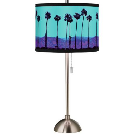 Giclee Palm Tree Haze Table Lamp