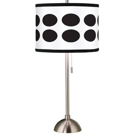 Giclee Black Orbs Table Lamp