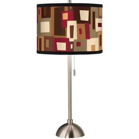 Giclee Earth Palette Table Lamp