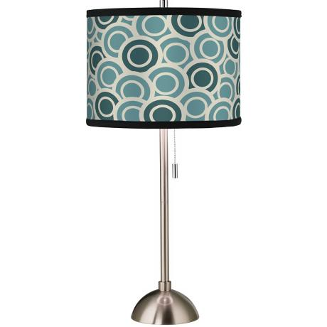 Giclee Blue/Green Circlets Table Lamp