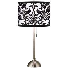 Giclee Black Tapestry Table Lamp