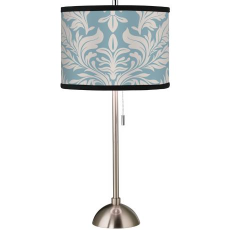 Giclee Ivory/Blue Tapestry Table Lamp