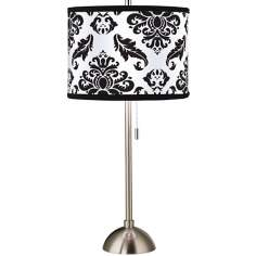 Giclee Black Filigree Table Lamp