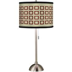 Giclee Simply Squares Table Lamp