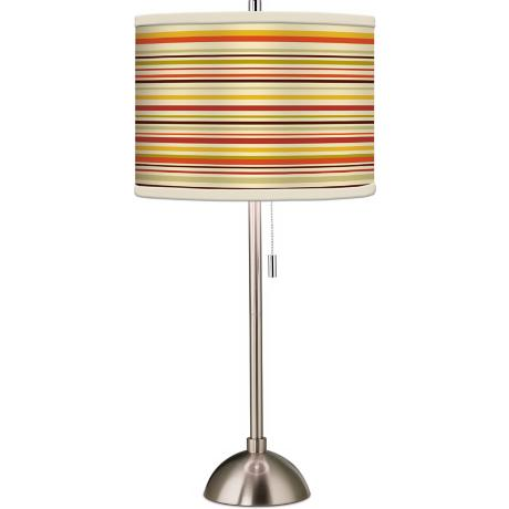 Stacy Garcia Lemongrass Stripe Giclee Table Lamp