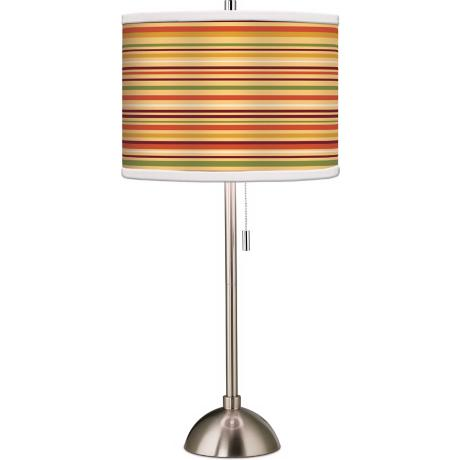 Stacy Garcia Harvest Stripe Giclee Table Lamp