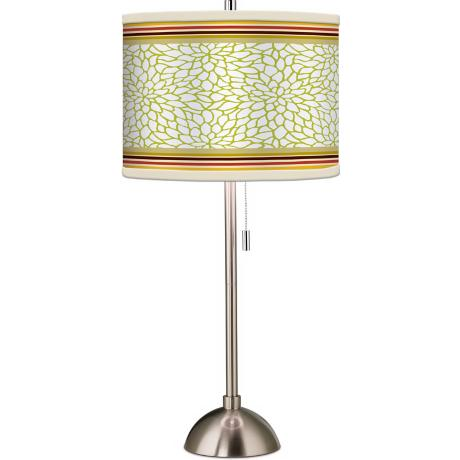 Stacy Garcia Lemongrass Dahlia Giclee Table Lamp