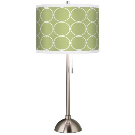 Spring Interlace Giclee Brushed Steel Table Lamp