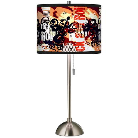 Rock and Roll Giclee Shade Table Lamp