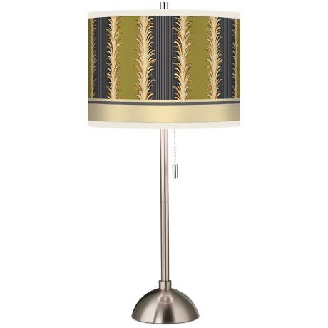 Stacy Garcia Lexington Stripe Avocado Giclee Table Lamp