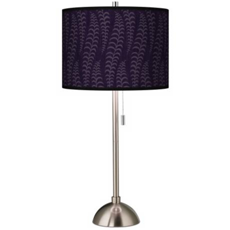 Stacy Garcia Fancy Fern Rich Plum Giclee Table Lamp