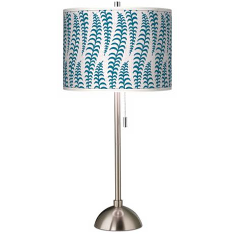 Stacy Garcia Fancy Fern Peacock Giclee Table Lamp