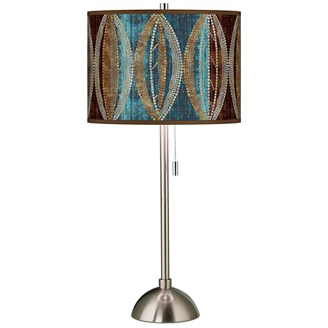 Stacy Garcia Pearl Leaf Peacock Giclee Table Lamp