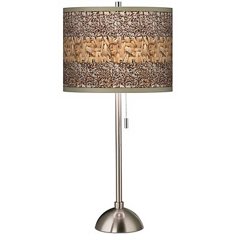 Woven Fundamentals Giclee Shade Table Lamp