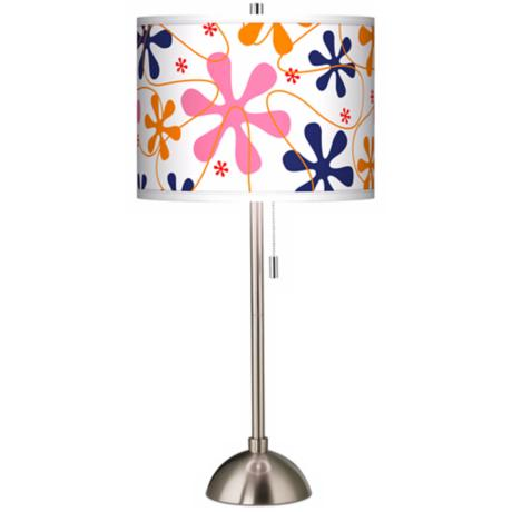 Retro Pink Giclee Shade Table Lamp
