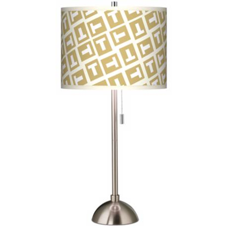 Tee Tumble Giclee Shade Table Lamp