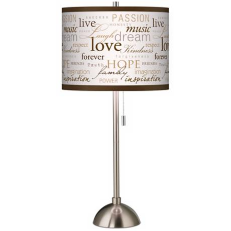 Positivity Giclee Shade Table Lamp