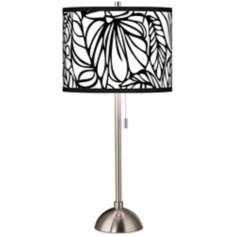 Jungle Moon Giclee Shade Table Lamp