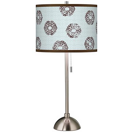 Weathered Medallion Giclee Contemporary Table Lamp