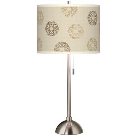 Sand Medallion Giclee Contemporary Table Lamp