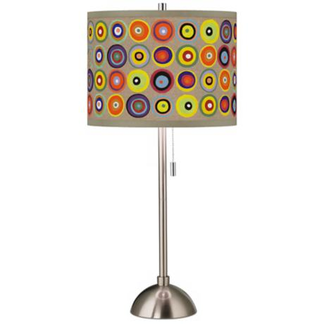 Marbles in the Park Giclee Shade Table Lamp