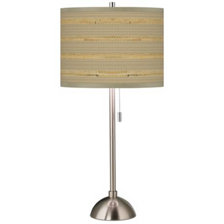 Woven Reed Giclee Shade Table Lamp