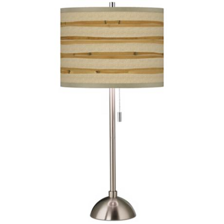 Bamboo Wrap Giclee Shade Table Lamp